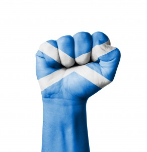 Fist of Scotland flag painted